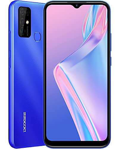 DOOGEE X96 Pro [2021] 4GB RAM+64GB ROM Moviles Libres, Android 11, 5400mAh 4G Smartphone, Cámara Cuádruple 13MP, Pantalla Waterdrop de 6.52'', Telefono Movil Octa Core, Face ID, Huella Dactilar, Azul
