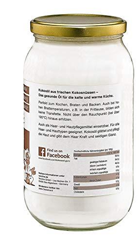 Guru Kokosöl 1000ml nativ & naturrein -Bio Qualität- - 3