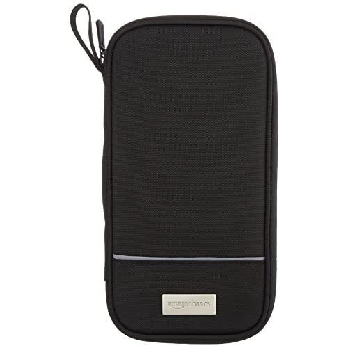 AmazonBasics ZH1510030R5, Portadocumenti da viaggio con protezione RFID , Nero