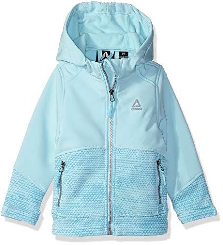 Reebok Mädchen Active Outerwear Jacket with Hood (More Styles Available) Alternativ-Daunenjacke, Aqua Print, 2 Jahre