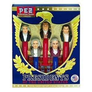 PEZ Education Series: Presidents of the United States, Vol 1: 1789-1825, 1 set 5 PRESIDENTS INCLUDED ARE GEORGE WASHINGTON,JOHN ADAMS,THOMAS JEFFERSON,JAMES MADISON AND JAMES MONROE