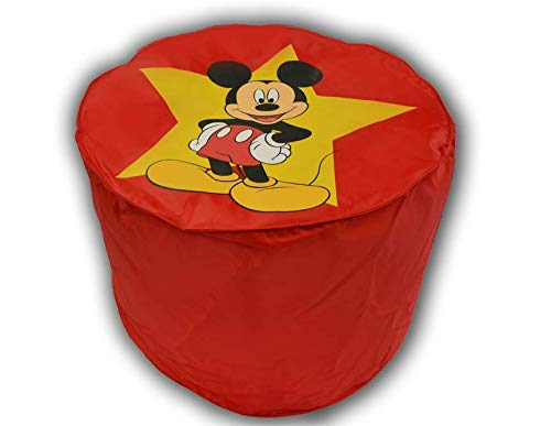 CALINUIT - Pouf Rouge Mickey Mouse Top Model Disney Pas Cher