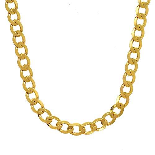 3,9 mm 60 cm 333-8 Karat Gelbgold Panzerkette massiv Gold hochwertige Halskette 9,4 g