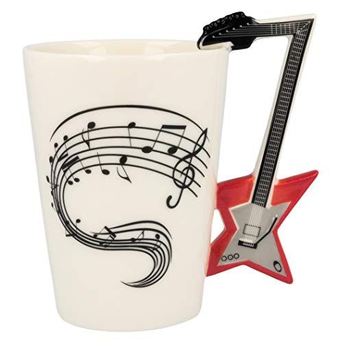 Froster Musik Becher Elektrogitarre in schwarzer Box, E-Gitarre Tasse, Kaffeetasse für Gitarristen Musikliebhaber
