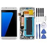 YIHUI piezas de repuesto de reparación OLED material pantalla LCD y digitalizador completo con marco para Samsung Galaxy S7 Edge/SM-G935F piezas de reparación (color: plata)