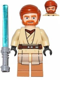 Star Wars Lego Minifigur Obi-Wan Kenobi (75012) mit Laserschwert