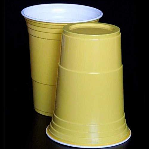 10 Pappbecher, 270 ml, Einweg-Pappbecher für heiße und kalte Getränke, Wasser, Saft, Kaffee, Tee Einheitsgröße gelb