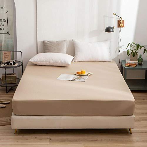 YFGY Wasserbett Boxspringbett Spannbettlaken Double, rutschfeste Bedruckte Spannbetttuchmatratze aus Baumwolle, elastisch Bedruckte Bettwäsche für Schlafzimmerwohnung Khaki 150 * 200cm