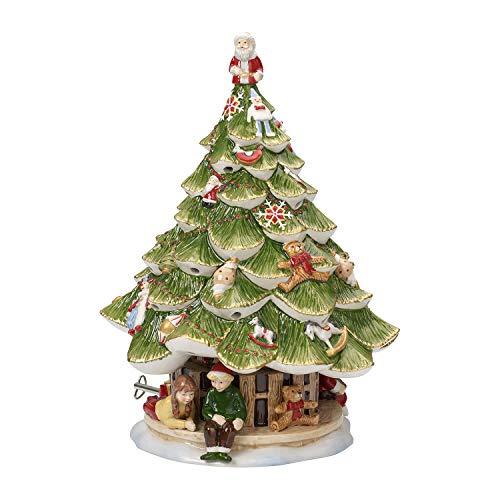 """Villeroy & Boch Christmas Toys Memory Boîte à musique """"Sapin de Noël"""", Porcelaine, Blanc/Vert"""