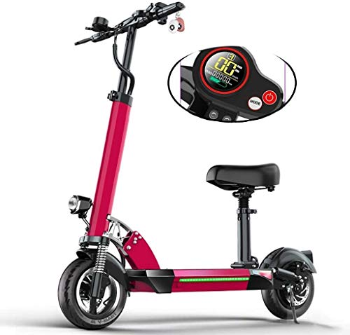 PARTAS Reisekomfort Ultraelektroroller, 50KM weiträumige, 500W High Power Motor, E-Scooter mit LCD-Display, 48V / 13AH Batterie, Höchstgeschwindigkeit 55 km/h, mit 10-Zoll-Reifen, höhenverstellbar,