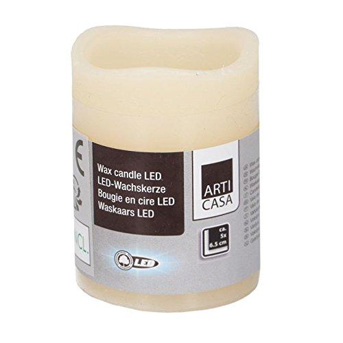 Megaprom LED mini 6,5 cm kaars echte waskaars waskaars nachtlampje met aan/uit-schakelaar incl. batterij