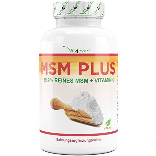 MSM 2000mg pro Tagesdosis - 400 Tabletten - Mit natürlichem Vitamin C (Acerola) - Ohne Zusätze - 6,6 Monate Vorrat - Hochdosiert - Laborgeprüft - Vegan