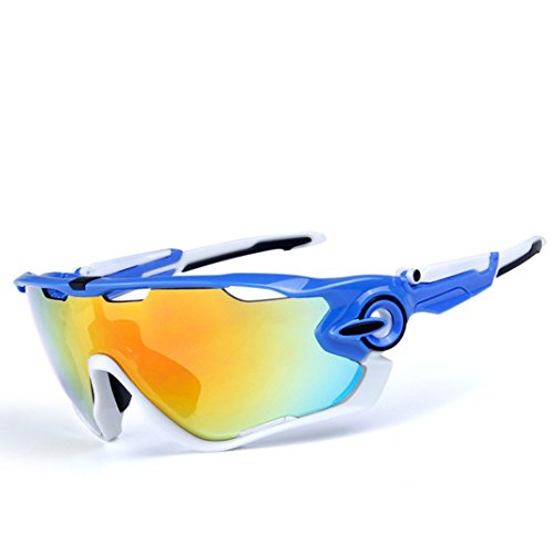 OPEL-R Conducción al Aire Libre polarizado Deporte Ocio Material Playa Gafas de Sol/Gafas de Gafas/PC, Contiene Cinco Variedad de Lentes de decoración