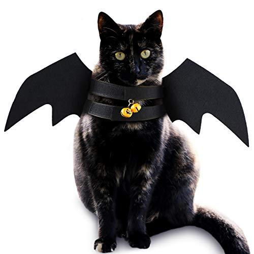 6 Piezas Disfraces de Mascota de Mmurcilago de Halloween Campanilla de Calabaza Alas Trajes de Disfraz de Halloween de Gato Perro para Suministros de Disfraces de Ropa de Mascota Halloween