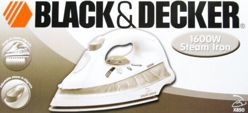 Affordable Black & Decker X850 1600W Steam Iron 220 Volt (Will Not Work in USA/Canada)
