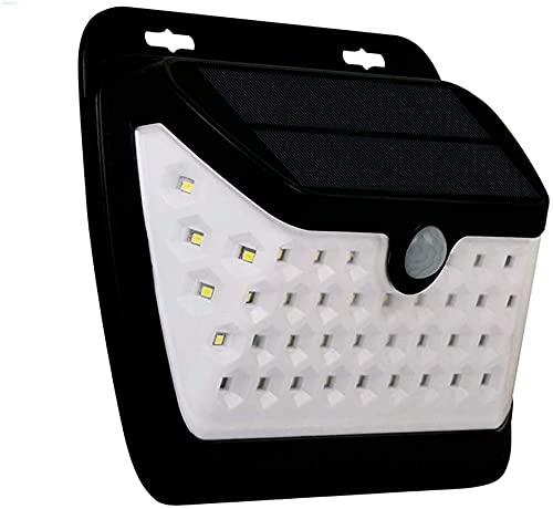Lámpara de pared a prueba de polvo a prueba de agu Luces solares al aire libre, sensor de movimiento Luces de seguridad de tres lados Iluminación de tres lados 42 LED Blanco Super brillante Luces de p