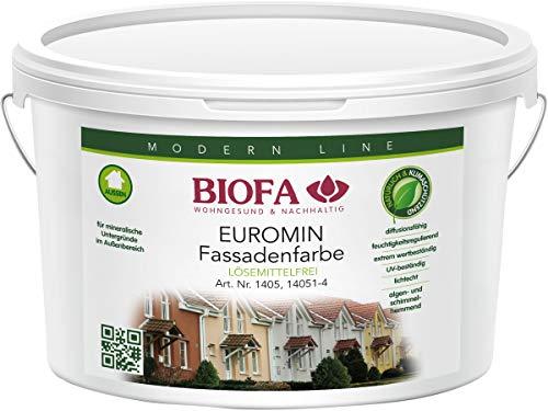 Biofa 1405 - Pintura al silicato'Euromin' blanca para exterior, 10 l