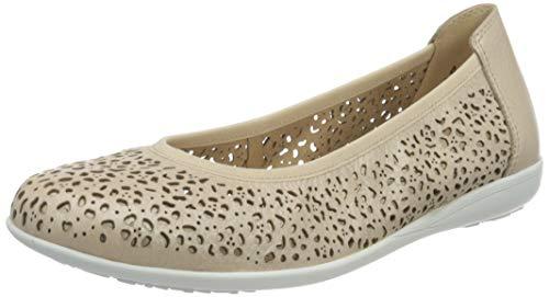 CAPRICE 9-9-22100-26, Zapatos Tipo Ballet Mujer, Nude Deer Perl, 37.5 EU