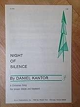 Best night of silence daniel kantor sheet music Reviews