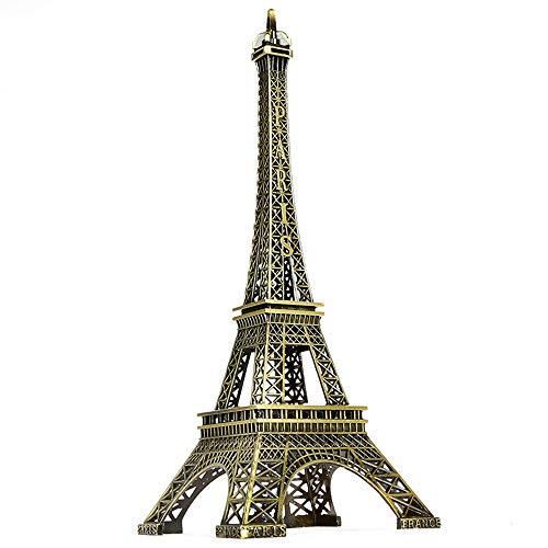Vektenxi Mini 18 cm Paris Eiffelturm Statue Modell geeignet für Zuhause, Büro Dekoration Handwerk