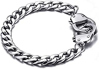 Bracelet for men made of stainless steel in the form of handcuffs
