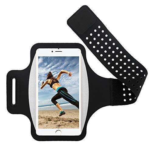 Guzack Brazalete Deportivo, Brazalete Running Armband Movil Soporte para iPhone XS MAX/XS/XR/8 Plus/7 Plus, Samsung S9 S8 S7 S6 Edge, Huawei P20 P10 P9 Lite Teléfono Debajo de 6.0 Pulgada