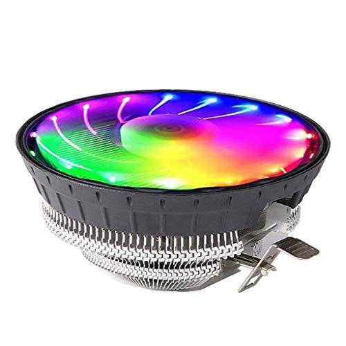 GREEN&RARE Ventilador de refrigeración para CPU de bajo ruido RGB para computadora de escritorio de 775 pulgadas
