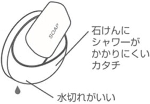 SANEI水まわりアクセサリー石けん置きホワイトPW1812-W4