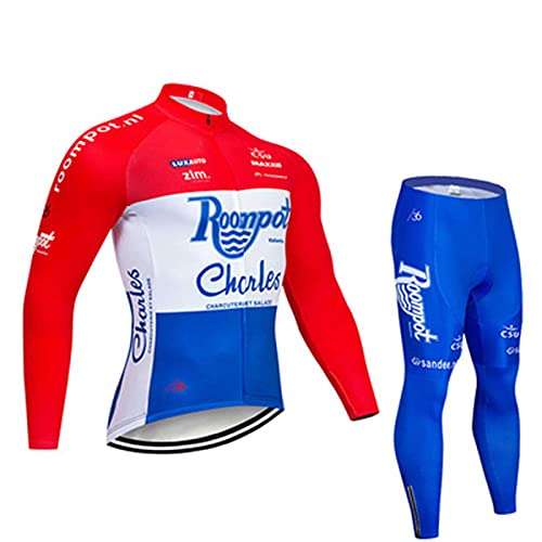 LOCGFF Cycling Clothing, Cycling Sportswear, Team Club Long-Sleeved Cycling Clothing, Roller Skating Clothing, MTB Suits, Outdoor Cycling Equipment, Sun Protection, Breathable, Quick-Drying,V,S