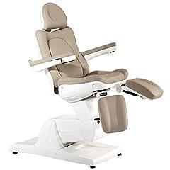 Chaise de soins pour pieds Chaise cosmétique électrique 3 moteurs 870 marron cappuccino