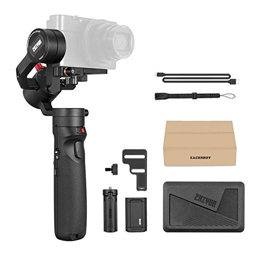 Zhiyun Crane-M2 3-in-1 Handheld Gimbal Stabilizzatore per Smartphone/Sport Action Cameras/Leggero Mirrorless DSLR Camere, 3-Axis All-in-One