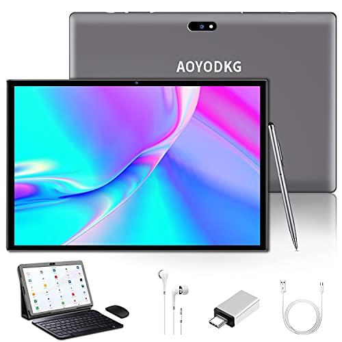 Tablet 10 Pulgadas Baratas y Buenas Android 9.0 3GB RAM /32GB/8000AH / Tarjeta SIM Dual/GPS/WiFi/Teclado Bluetooth/Mouse/OTG/Cubierta para Tablet PC, etc. - Gris