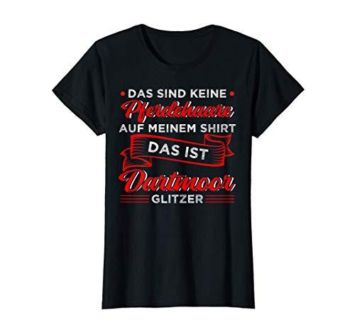Dartmoor Pony Glitzer Lustige Sprüche für Mädchen Reiten T-Shirt