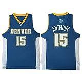 Ropa de Baloncesto para Hombres, Nuggets de Denver 15# Anthony Swingman NBA Jersey, Deportes al Aire Libre Uniformes de Baloncesto Camiseta sin Mangas CAM Top Top,B,L