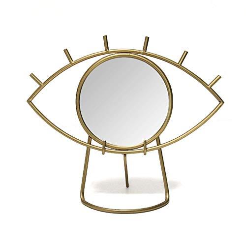 Stratton Home Décor Stratton Home Decor Gold Eye Tabletop Mirror, 14.00' W X 6.00' D X 11.50' H