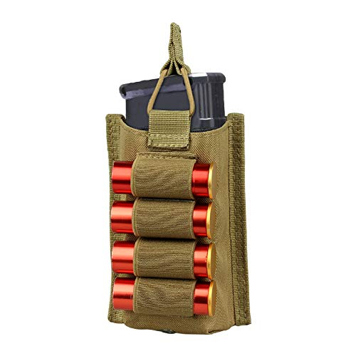 Best Buy! Gexgune Nylon Tactical Pistol 12 Gauge Cartridge Ammo Holder with 4 Round Glock Fabric Mag...