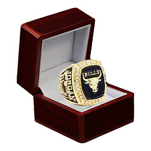 Campeonato de anillos, Chicago Bulls Michael Jordan 1991 Finales Campeones del Mundo Anillo Réplica para los Fans de Regalo Colección de Cribado Recuerdo Con Caja Con Caja