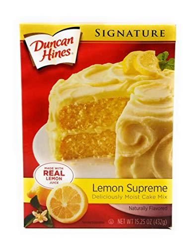 Duncan Hines Signature Deliciously Moist Lemon Supreme Cake Mix 16.5 Oz. (2 Pack)