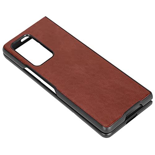 Oure Étui pour téléphone Portable, Housse de Protection pour téléphone Facile d'accès Anti-poussière pour Z Fold 2(Brun)