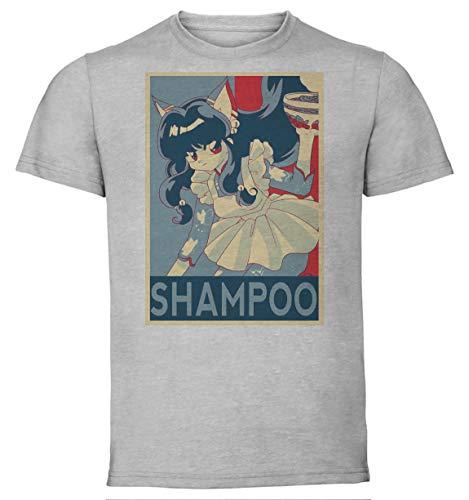 Instabuy T-Shirt Unisex - Color Grey - Propaganda - Ranma - Shampoo Size Large