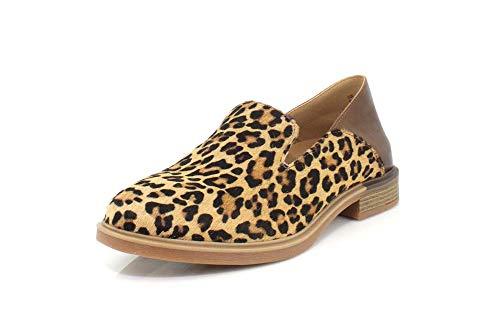 Hush Puppies Women's Bailey Slipon Shoe, Leopard Calf Hair, 06.0 M US