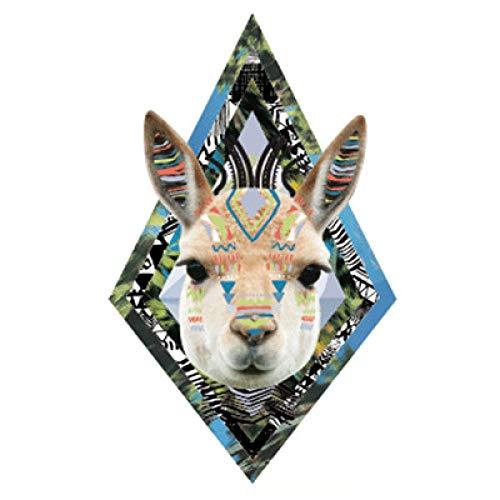 Pegatinas de tatuaje de brazo de flor pegatinas de tatuaje impermeables cara de búho cabeza de lobo pegatina de tatuaje de medio brazo de moda 3 piezas-11 148 * 210 mm