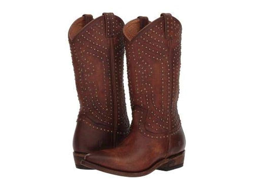 大工植物学者アラブFrye(フライ) レディース 女性用 シューズ 靴 ブーツ ミッドカフ Billy Stud Pull-On - Cognac Washed Antique Pull-Up [並行輸入品]