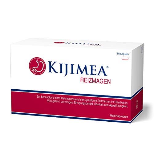 Kijimea Reizmagen - Zur Behandlung eines Reizmagens (Magenschmerzen, Völlegefühl, vorzeitiges Sättigungsgefühl, Übelkeit, Appetitlosigkeit) - vegan, glutenfrei, laktosefrei - 80 Kapseln