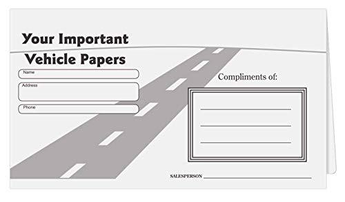 Cartera para documentos de coche (50 por paquete)