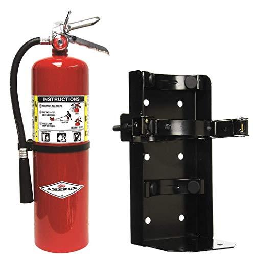 10lb ABC Dry Chemical Fire Extingusher W/Heavy Duty Vehicle Bracket (1)