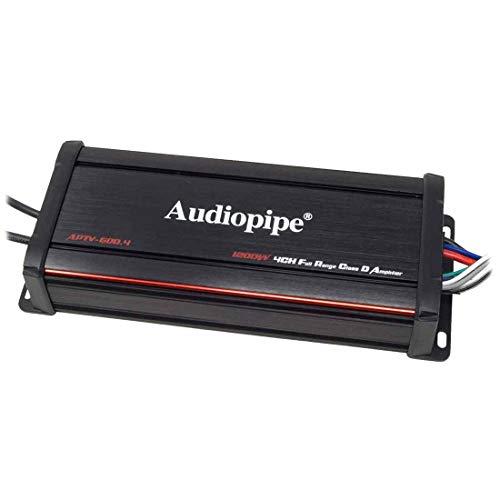 Audiopipe 1200W 4-Channel Micro Marine Amplifier