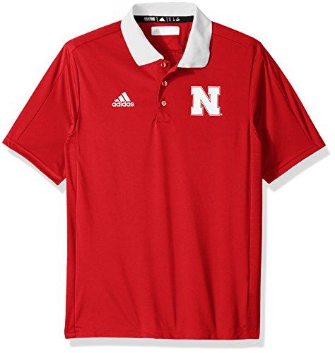 adidas NCAA Sideline Coaches Polo da Uomo, Colore: Rosso