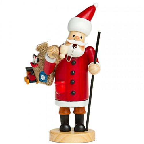 Sikora RM-A Räuchermännchen aus Holz 3 Größen Verschiedene Motive, Farbe/Modell:A01 rot - Weihnachtsmann, Größe:Höhe ca. 15 cm