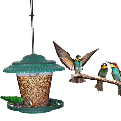 A-Free Hanging Bird Feeders Stations for Small Birds Squirrel Proof Bird Feeders for the Garden, Bird Feeder for Sunflower Heart Niger Seed Goldfinch Wild Bird (Green)
